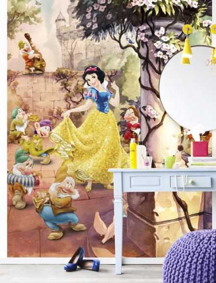 Dancing Snow White wall mural wallpaper